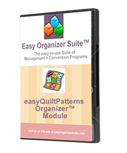 Picture of easyQuiltPatterns Organizer™ Module - Pro Edition
